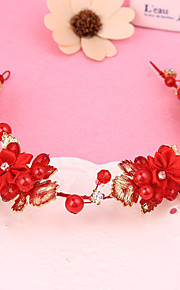 Women's / Flower Girl's Alloy / Fabric Headpiece-Wedding / Special Occasion Headbands 1 Piece