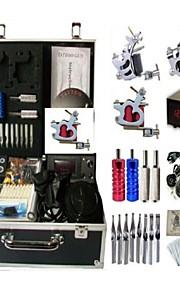 Basekey Tattoo Kit K0083 2Guns Machine With Power Supply Grips Cleaning Brush Needles