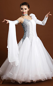 High-quality Spandex and Tulle with Rhinestones and Flower(s) Performance Dresses for Women's Performance (More Colors)