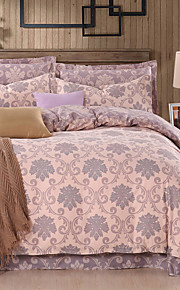 100% Cotton 4PC Comfortable Fashion Duvet Cover Sets, Queen/King Size