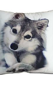 3D Design Pint Dog Husky Decorative Throw Pillow Case Cushion Cover for Sofa Home Decor Polyester Soft Material