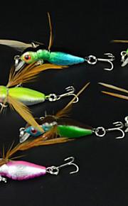 "Señuelos duros 8pc pcs,3.4g/pc g/1/8 Onza,45mm/pc mm/1-3/4"" pulgada Colores Aleatorios PlásticoPesca de baitcasting / Pesca de agua dulce"