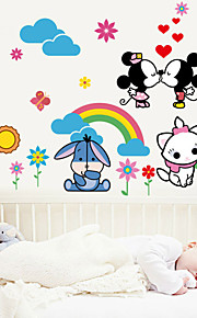 Tegneserie / Mote Wall Stickers Fly vægklistermærker,PVC 60*96cm(23.6*37.76 inch)