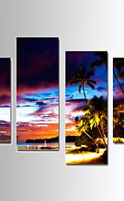 Landskap Canvastryck Fyra paneler Redo att hänga,vilken form som helst