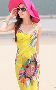 estilo de la gasa de la bufanda de la playa toallas bufandas de las señoras de la gasa del verano de los mantones de color al azar