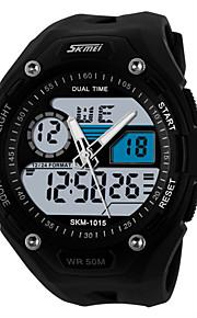 urheilu katsella Miehet LED / Kalenteri / Kaksois-aikavyöhyke / hälytys / Sekuntikello / Itsestään valaiseva pimeässä Japanilainen kvartsi