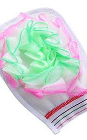 correas de algodón baño de flores de toallas de baño y la bola hacia atrás frotando guantes de baño guantes (color al azar)