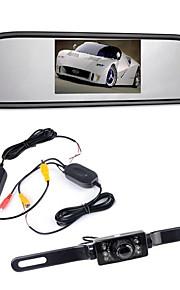"""4.3 """"TFT LCD-monitor auto achteruitkijkspiegel wireles 170 ° backup reverse camera kit nachtzicht"""