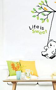 Animais / Botânico / Natal / Desenho Animado / Romance / Feriado / Lazer Wall Stickers Autocolantes de Aviões para Parede,PVC 50x70X0.1