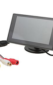 4,3 inch TFT-LCD auto achteruitkijkspiegel-monitor 2 AV-kanaal