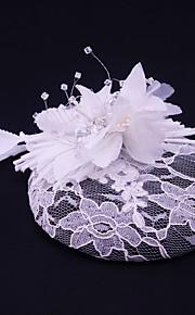 Women's Lace / Rhinestone / Flax / Fabric Headpiece-Wedding / Special Occasion / Casual / Outdoor Fascinators 1 Piece