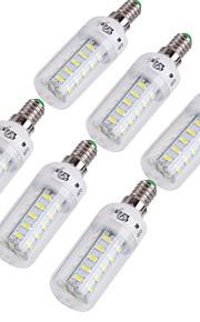 4W E14 / E26/E27 Ampoules Maïs LED T 36 SMD 5730 228 lm Blanc Chaud / Blanc Froid Décorative AC 100-240 / AC 110-130 V 6 pièces