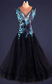 Ballroom Dance Dresses Women's Performance Spandex Draped 1 Piece Leopard Print
