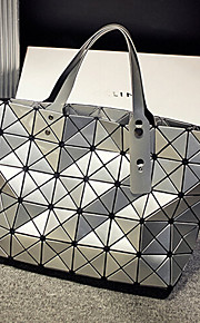 Women Polyester Weekend Bag Tote-Silver