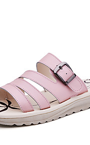 Синий / Розовый / Белый-Женская обувь-На каждый день-Кожа-На плоской подошве-Удобная обувь-Сандалии