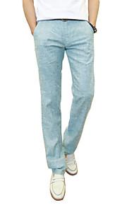Mænds Ensfarvet Chinos Polyester Fritid / Plusstørrelse