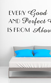 AYA™ DIY Wall Stickers Wall Decals, Every Good And Perfect Gift is From Above Bible Verse PVC Wall Stickers