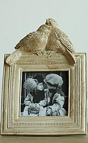 Vintage Theme Bois Cadre photo / Album photo / Plaque de porte Chocolat