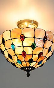 12 inch Retro Tiffany Ceiling Lamp /Shell Shade Flush Mount Living Room Dining Room light Fixture