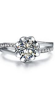 Blume Stil 0.5ct sona Diamant-Verlobungsring für elegante Braut Sterling Silber Schmuck Ring für Mädchen Geschenk vorschlagen
