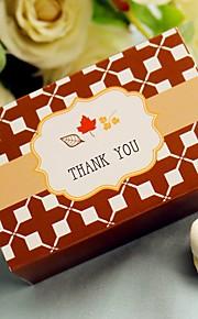 Leafs Wedding Favor Box, Party Candy Box(12pcs/bag)