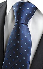 KissTies Men's Navy Dark Blue Flora Dot Necktie Wedding Formal Business Work Casual Tie With Gift Box