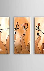 käsinmaalattu abstrakti afrikkalainen naiset öljymaalaus kanssa venytetty runko