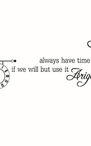 Wall Stickers Wall Decals Style We Have Time English Words & Quotes PVC Wall Stickers