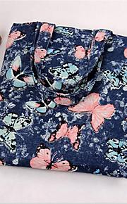 Women-Casual-Canvas-Shoulder Bag-Blue / Black