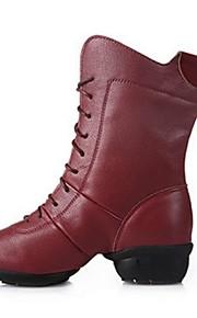 Sapatos de Dança(Preto / Branco / Fúcsia) -Feminino-Não Personalizável-Moderna
