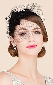 Women's Rhinestone / Tulle / Polyester Headpiece-Wedding / Special Occasion / Casual Fascinators / Birdcage Veils