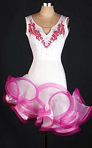 Latin Dance Dresses Women's Performance Spandex Draped 1 Piece