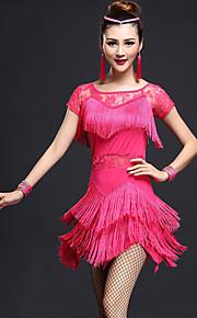 Latin Dance Dresses Women's Fashion Performance Chinlon / Nylon Lace / Tassel(s) Dance Costumes