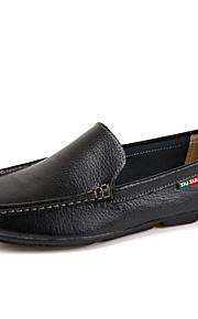 Черный / Синий / Коричневый / Белый Мужская обувь Для офиса / На каждый день / Для вечеринки / ужина Кожа / Наппа LeatherЛоферы / Без