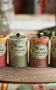 Thème de jardin Favors Candle-1 Piece / Set Bougies Non personnalisé Rouge / Chocolat / Vert / Jaune