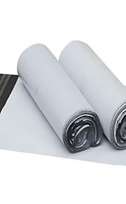 לבן מעובה שקית אריזה ולוגיסטיקה עמידה למים (38 * 51cm, 100 / חבילה)