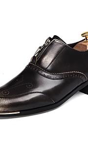 Chaussures Hommes Mariage / Bureau & Travail / Décontracté / Soirée & Evénement Noir Synthétique Richelieu