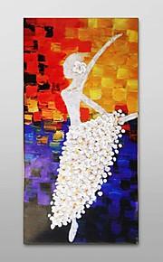käsinmaalattu öljymaalaus nämä paksu koostumus baletti tyttö sisustus venytetty runko