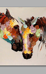 Hand-Painted Abstract / Animal Horses 100% Hang-Painted Oil PaintingModern / Classic One Panel Canvas Oil Painting For Home Decoration
