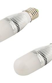5W E26/E27 Ampoules Globe LED T 28 SMD 2835 480 lm Blanc Chaud Décorative AC 100-240 / AC 110-130 V 2 pièces