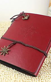 DIY 20 * 28 cm læder cover håndlavet scrapbog fotoalbum 30pcs sort papir til familie / baby / kærester / gaver rødt / kaffe