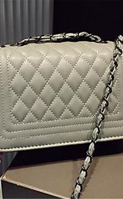 Women-Casual-PU-Shoulder Bag-White / Gold / Silver / Black