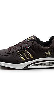 Черный / Коричневый / Белый-Мужская обувь-Для прогулок / На каждый день / Для занятий спортом-Полотно / Микроволокно-Кроссовки