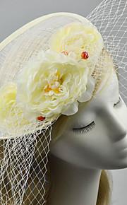 Women's / Flower Girl's Fabric / Net Headpiece-Wedding / Special Occasion / Casual Fascinators 1 Piece