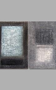 Peint à la main Abstrait Modern,Deux Panneaux Peinture à l'huile Hang-peint