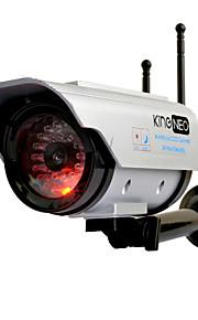 kingneo306sa esterna di energia solare fittizia videocamera di sicurezza di wifi macchina fotografica simulata con flash led antenna