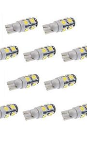 10stk t10 9smd 5050 hvid farve dc 12v bil LED lys interiør pærer kile lampe