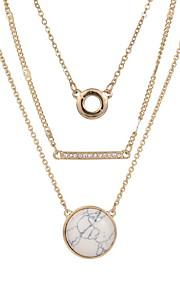 Halskette Anhängerketten / Ketten Schmuck Goldfarben Aleación / Edelstein Alltag / Normal 1 Stück Geschenk