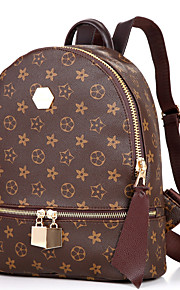 Women Casual / Outdoor Cowhide Zipper Backpack