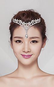 Women's Alloy Headpiece-Wedding / Special Occasion Tiaras 1 Piece Clear Pear 14cm-20cm